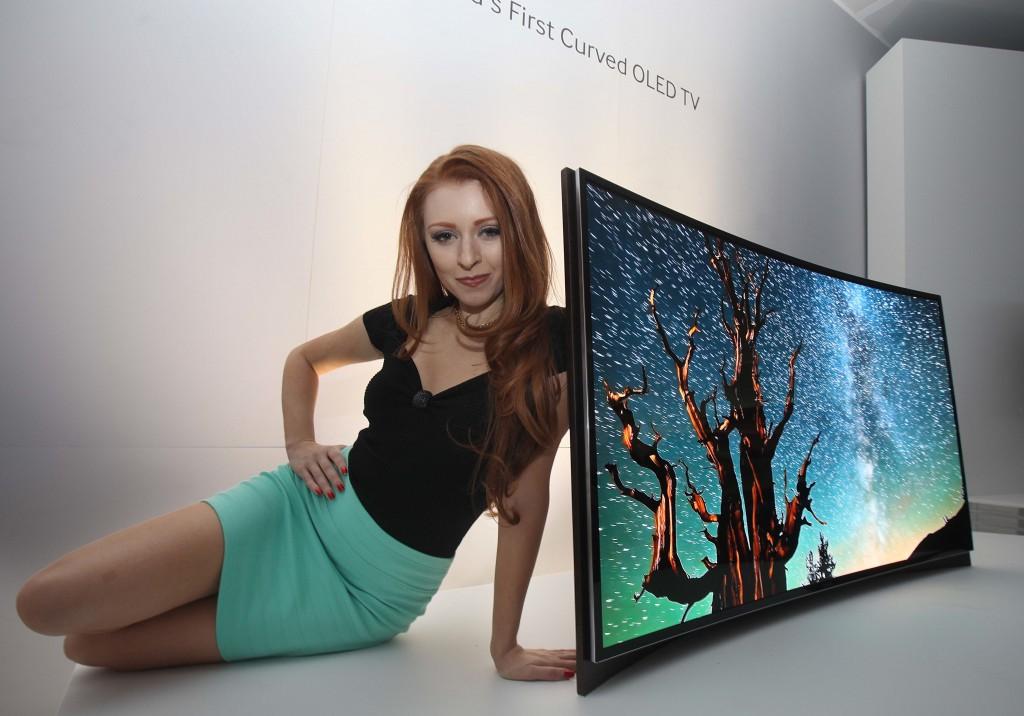 Samsung - hajlított képernyős OLED TV